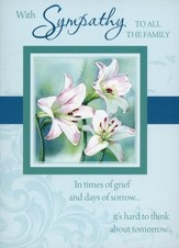 Floral Sympathy Cards, Box of 12