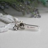 My Sister, My Friend, Message In A Bottle Necklace