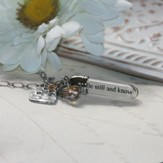 Be Still And Know That I Am God, Message In A Bottle Necklace