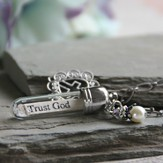 Trust God With All Your Heart, Message In A Bottle Necklace