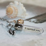 I Carried You - Jesus, Message In A Bottle Necklace