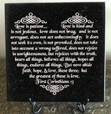 Lasered Granite Stone: Love Is Patient