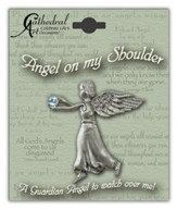 March Birthstone Angel Lapel Pin
