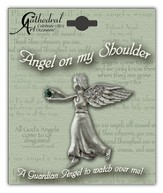 May Birthstone Angel Lapel Pin