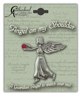 July Birthstone Angel Lapel Pin