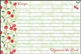 Rejoice in the Lord, Recipe Cards, Pack of 36