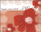 Rejoice in the Lord, Blank Note Cards, Box of 8