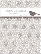 The Lord is My Strength, Blank Note Cards, Box of 8