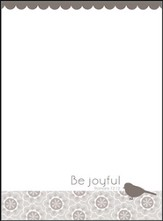Be Joyful Memo Pad