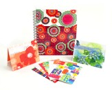 Greeting Card Organizer, Floral, 10 Birthday Cards Included