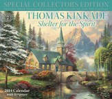 2014 Wall Calendar, Thomas Kinkade, Special Collector's Edition, Shelter For the Spirit