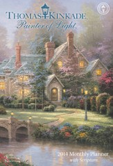 2014 Monthly Planner Calendar, Thomas Kinkade, Painter of Light