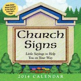 2014 Boxed Calendar, Church Signs