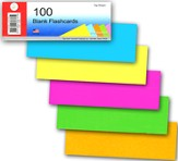 Unlined Flashcards Bright Assorted