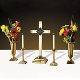 Solid Brass Altar Set