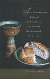 Communion Bulletin - 1 Cor. 11:26, Pack of 50