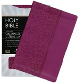 KJV Compact Ultraslim Bible, Leathersoft, plum - Slightly Imperfect