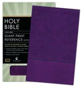 KJV Personal Size Giant Print End-of-Verse Reference Bible, Leathersoft, royal purple