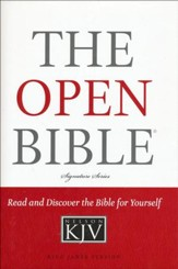 KJV Open Bible, Hardcover - Slightly Imperfect