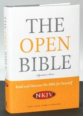 NKJV Open Bible, Hardcover - Slightly Imperfect