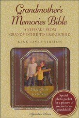 KJV Grandmother's Memories Bible--soft leather-look, autumn brown - Imperfectly Imprinted Bibles