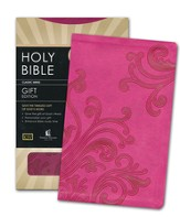 KJV Gift Bible--soft leather-look, berry