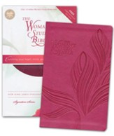 NKJV The Woman's Study Bible Personal-Size--soft leather-look, cranberry