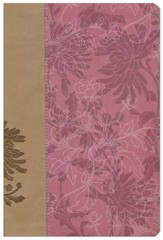 NIV The Woman's Study Bible--soft leather-look, pink/cafe au lait - Slightly Imperfect