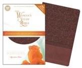 NIV The Woman's Study Bible--soft leather-look, auburn (indexed)