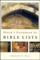 Baker's Handbook of Bible Lists (Slightly Imperfect)
