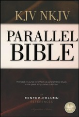 Nelson's KJV/NKJV Parallel Bible with Center-Column References, hardcover