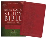 KJV Personal-Size Study Bible--soft leather-look, ruby