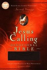 NKJV Jesus Calling Devotional Bible, Soft leather-look, chocolate