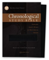 NKJV Chronological Study Bible, Genuine leather, black , Case of 12