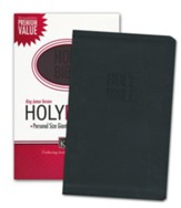 KJV Personal Size Giant Print Reference Bible, Leathersoft, black - Imperfectly Imprinted Bibles