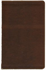 KJV Ultraslim Bible, Leathersoft, earth brown
