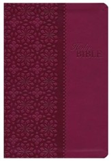 King James Study Bible, Second Edition, Leathersoft, Cranberry - Imperfectly Imprinted Bibles