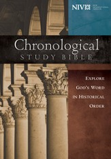 NIV Chronological Study Bible, Hardcover - Slightly Imperfect