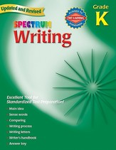Spectrum Writing, Grade K