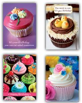 Cupcakes Birthday Cards, Box of 12