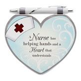 Heart Shaped Notepad and Pen Set, Nurse
