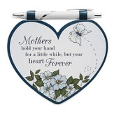Heart Shaped Notepad and Pen Set, Mother