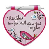 Heart Shaped Notepad and Pen Set, Daughter