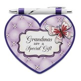 Heart Shaped Notepad and Pen Set, Grandma
