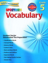 Spectrum Vocabulary Grade 5, 2007 Ed.