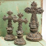 Cross Figurines, Set of 3