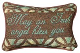 May an Irish Angel Bless You Word Pillow