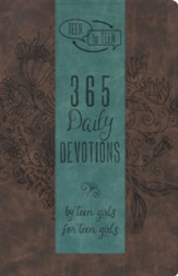 Teen to Teen: 365 Daily Devotions by Teen Girls for Teen Girls, Brown and Blue LeatherTouch