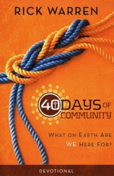 40 Days of Community Devotional: What on Earth Are We Here For? - Slightly Imperfect