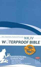 NKJV Waterproof NT with Psalms and Proverbs, Blue Wave - Imperfectly Imprinted Bibles